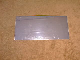 Picture of a piece of mirrored Lexan that I am using as a light reflector.